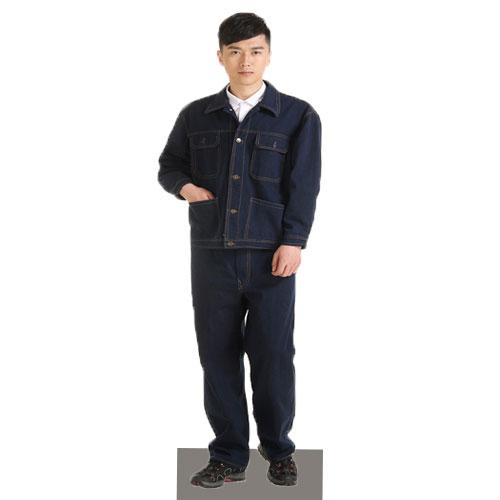 Bộ quần áo chống nóng vải giả bò loại thường