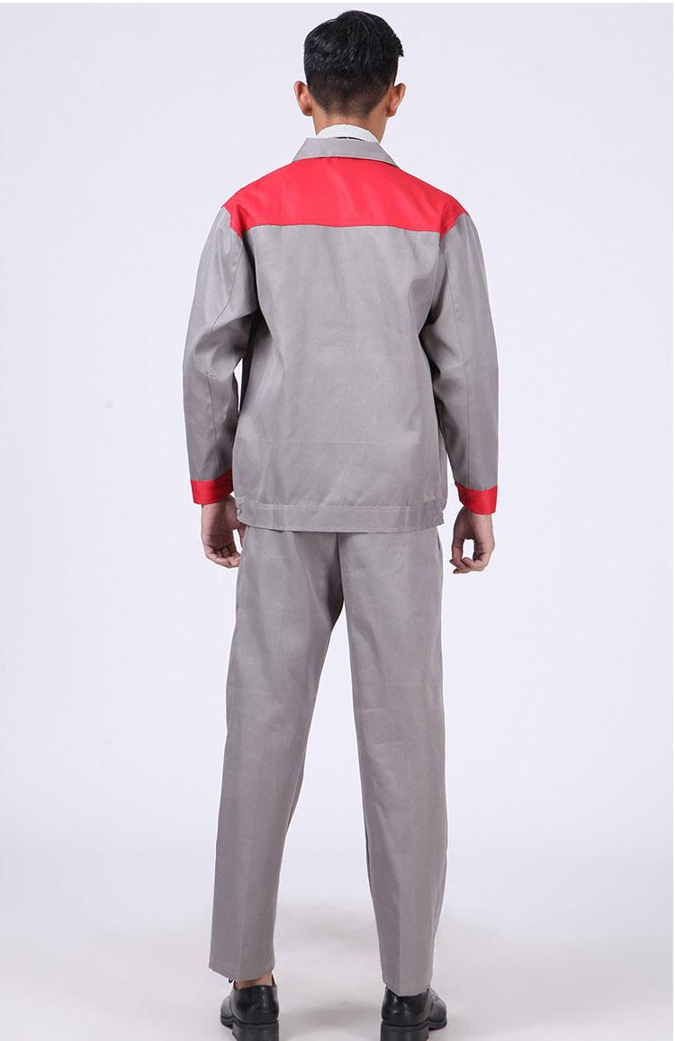 quần áo bảo hộ vải kaki phối màu nhập khẩu xanh xám