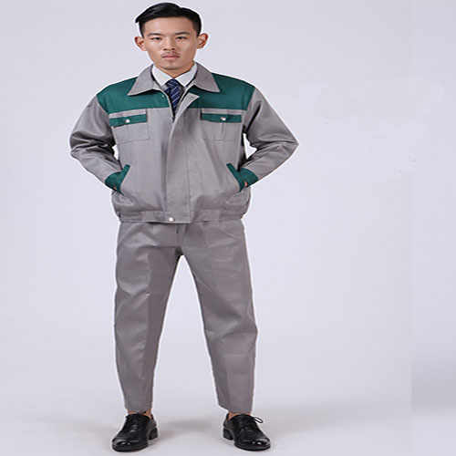 Quần áo bảo hộ kaki phối màu xanh xám nhập khẩu