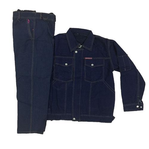 Bộ quần áo chống nóng vải giả bò loại dày xịn nhẹ