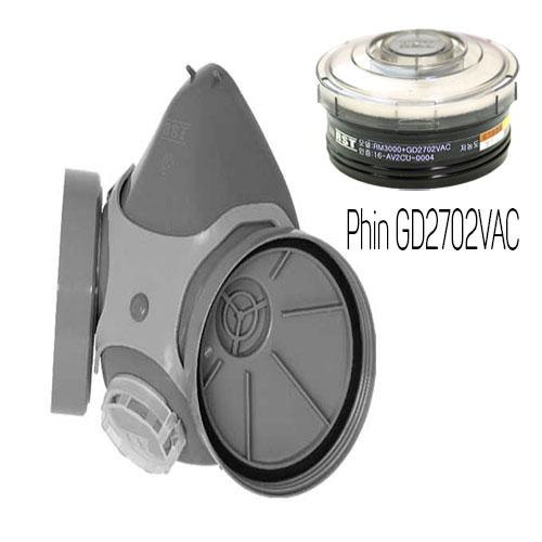 Mặt nạ phòng độc Restech RM 3000 + phin GD2702VAC