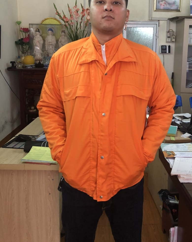 Áo bảo hộ 3 lớp màu cam