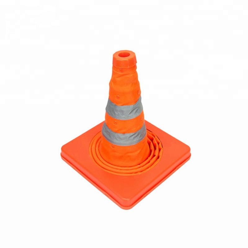 Cọc tiêu chóp nón giao thông co rút Hàn Quốc 48 cm