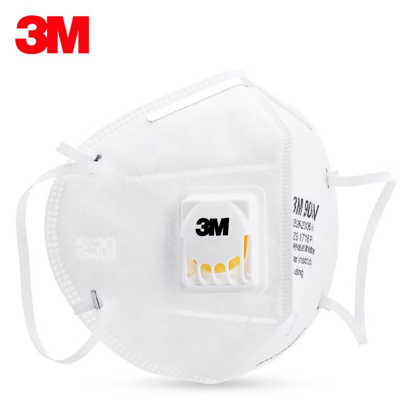 Khẩu trang giấy 3M N95 9001V có van thở chống vi khuẩn, virus, bụi