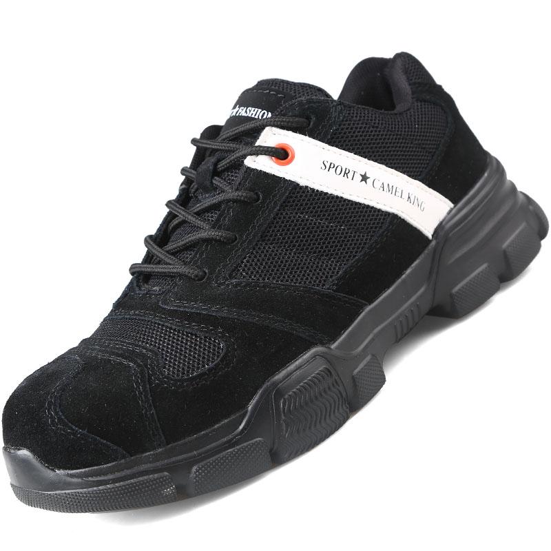 Giày da bảo hộ lao động thời trang 911 Đen