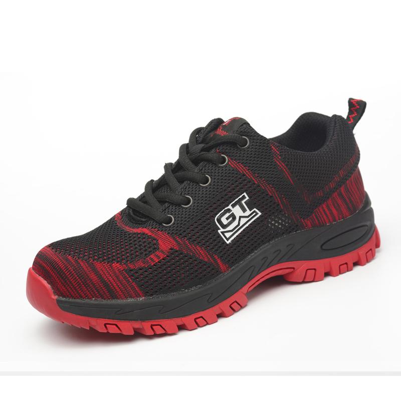 Giày bảo hộ lao động dáng thể thao siêu thoáng 118 Đỏ