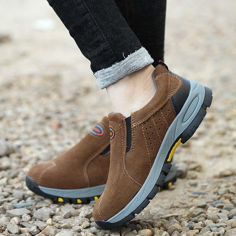 Giày da bảo hộ lao động thời trang HJ119 Nâu