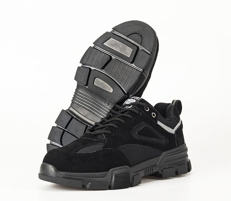 Giày da bảo hộ lao động thời trang siêu thoáng 523 Đen