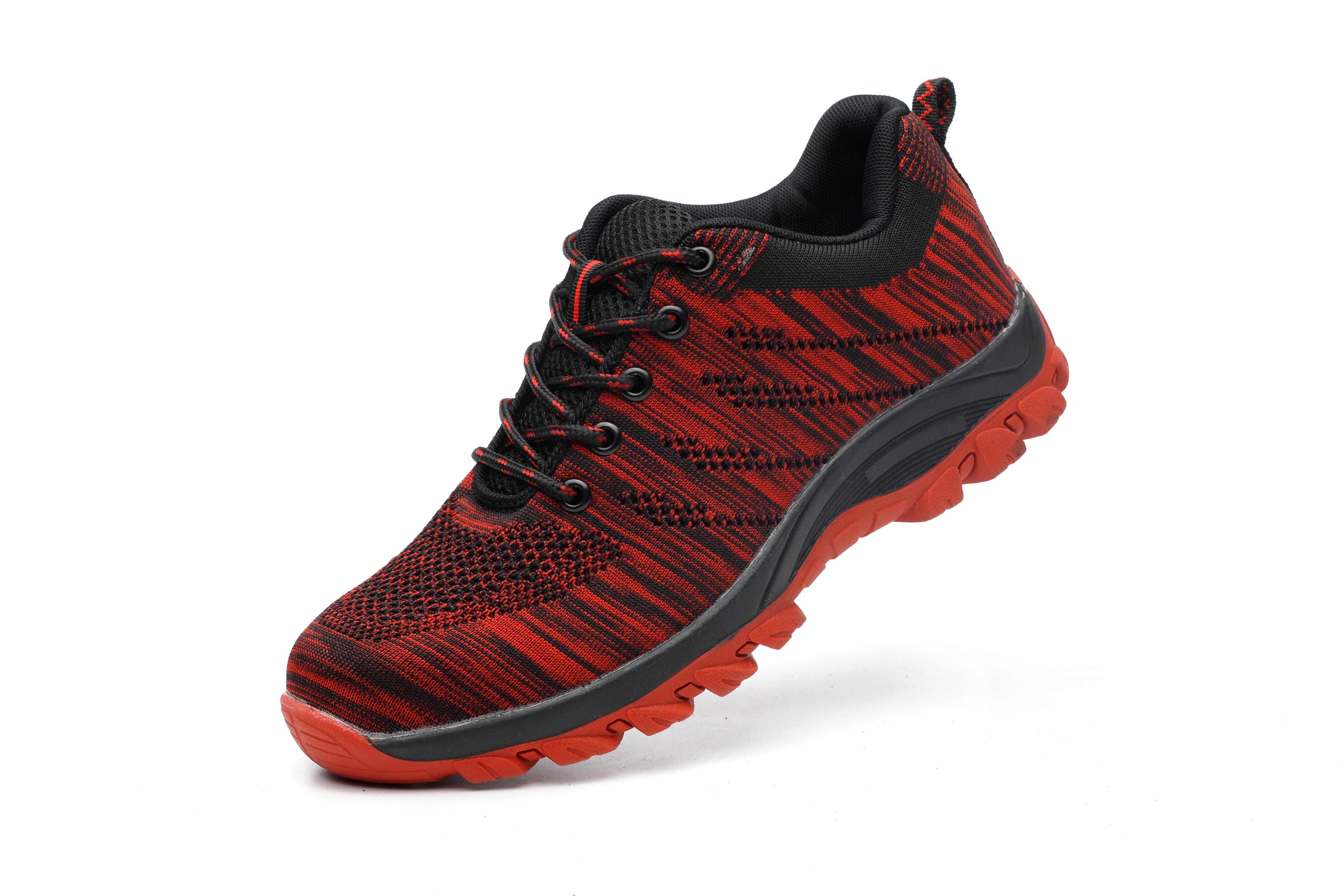 Giày bảo hộ lao động dáng thể thao siêu thoáng 126 Đỏ