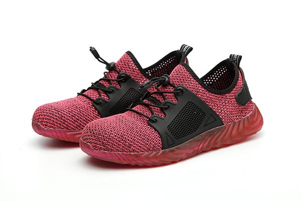 Giày bảo hộ lao động dáng thể thao siêu thoáng 703 Đỏ