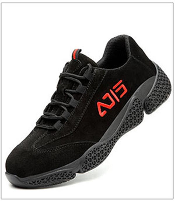 Giày da bảo hộ lao động dáng thể thao siêu đàn hồi 1113 Đen