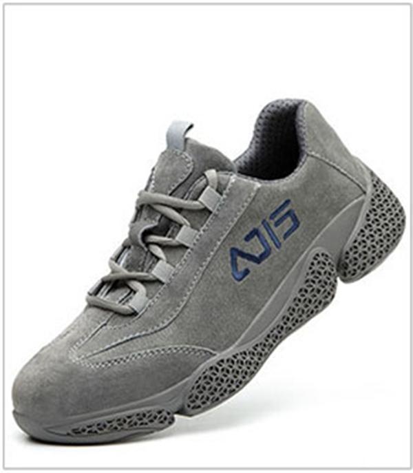 Giày da bảo hộ lao động dáng thể thao siêu đàn hồi 1113 Ghi