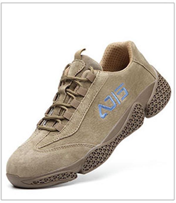 Giày da bảo hộ lao động dáng thể thao siêu đàn hồi 1113 Nâu