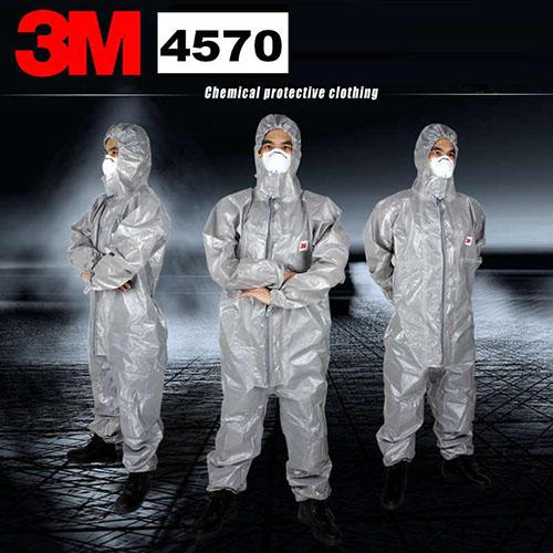 Bộ áo liền quần chống hoá chất, phòng dịch 3m 4570