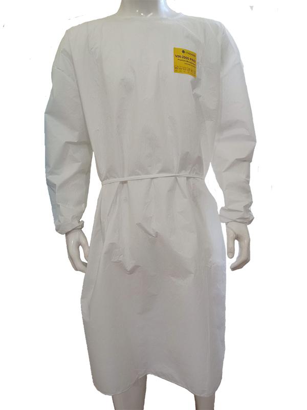 Áo choàng vải không dệt trắng level 3
