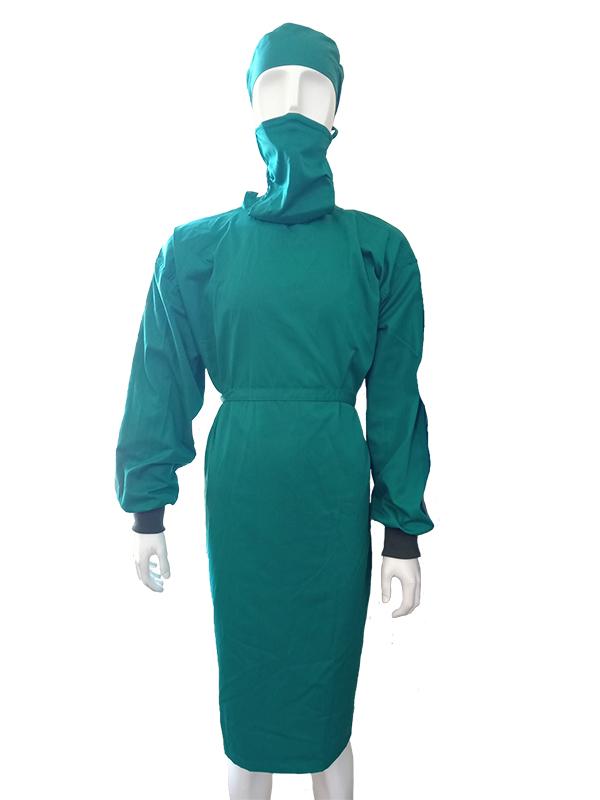 Áo choàng phẫu thuật vải không dệt màu xanh
