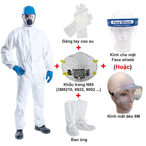 Bộ quần áo phòng dịch Vin-2000 Pro full set Level 3