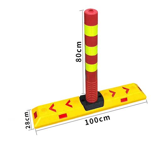 Dải phân cách cọc tiêu Nhật Quang cao 80cm cảnh báo phân làn giao thông