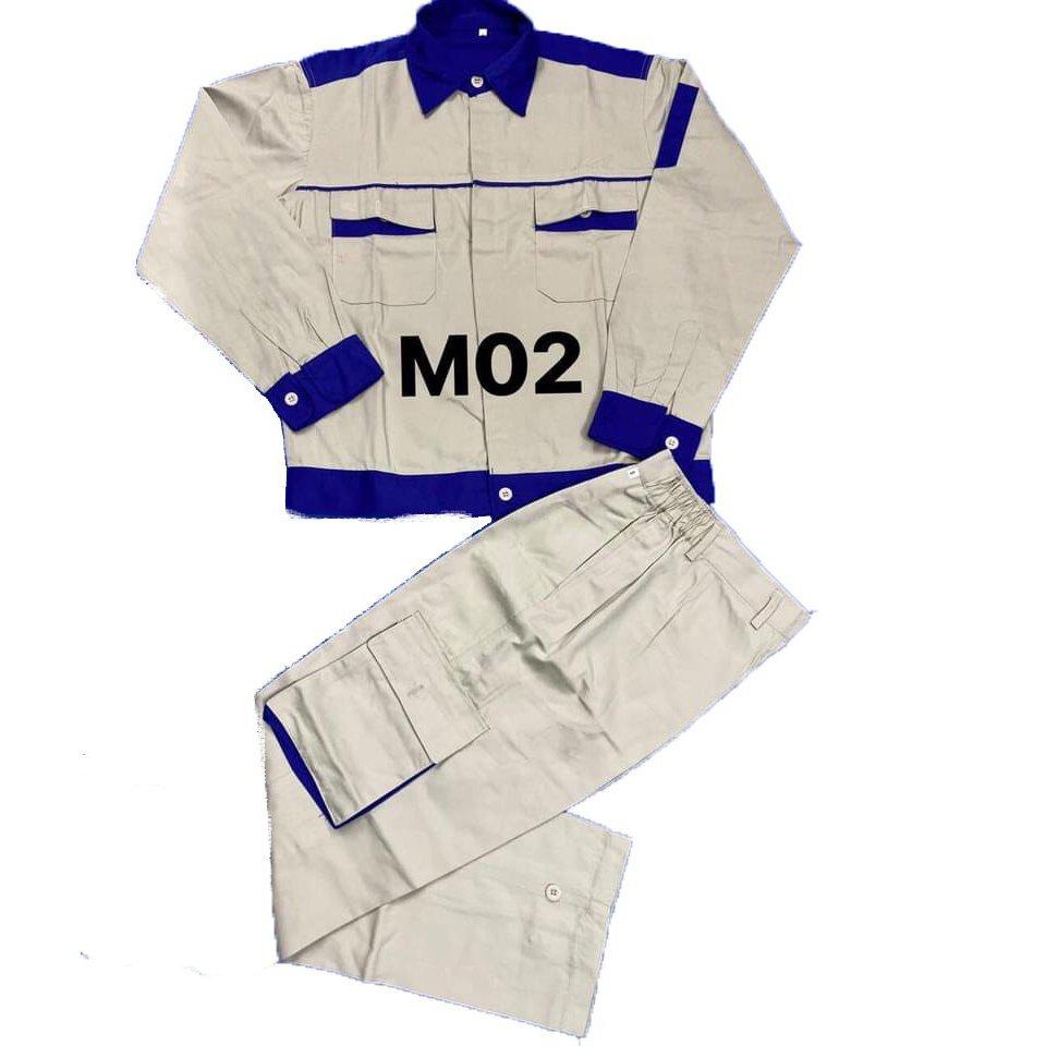 Quần áo bảo hộ lao động vải kaki liên doanh phối màu
