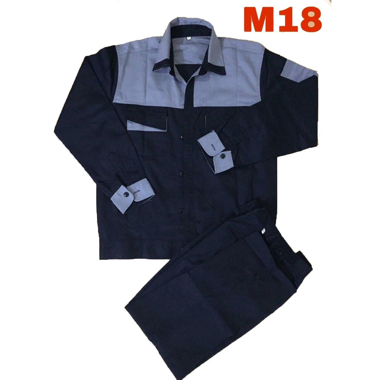 Quần áo bảo hộ lao động phối xanh kaki liên doanh