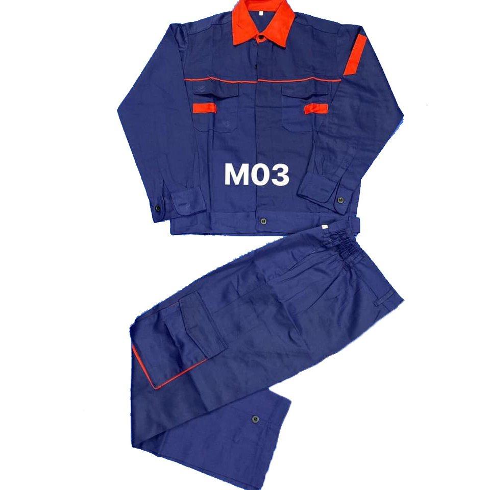 Quần áo bảo hộ phối màu vải kaki liên doanh